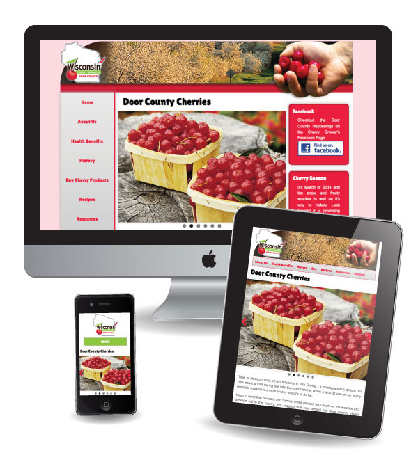 Website Design and Marketing for the Door County Cherry Growers