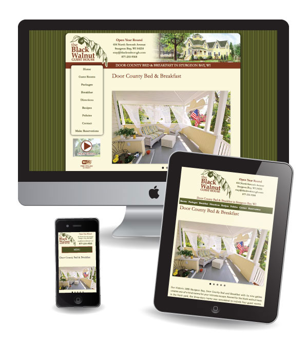 Website Design and Marketing for Black Walnut in Door County